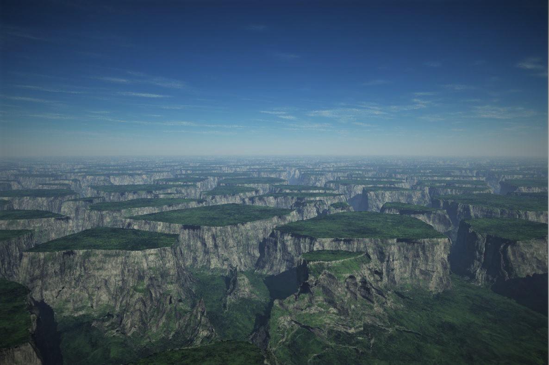 Kalksteinsediment - Landschaft