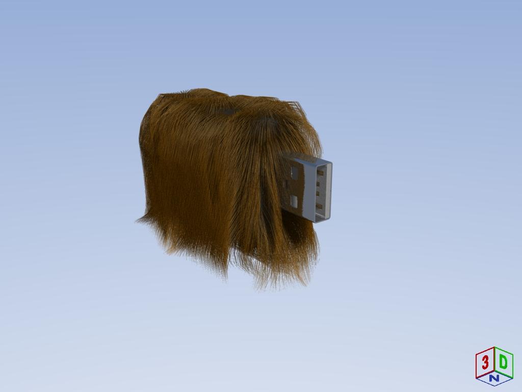 USB-Stick mit Haare