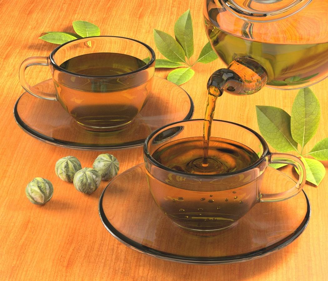 Tee einschenken.........