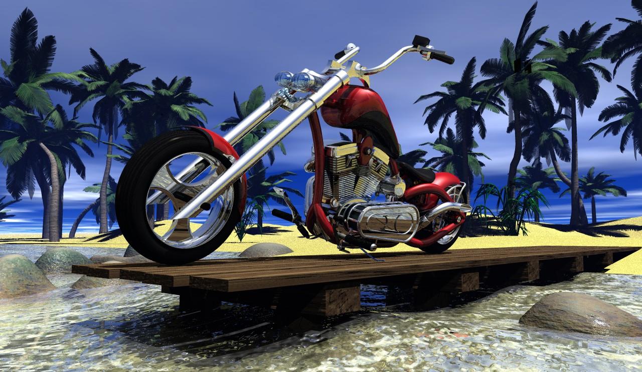 Chopper am Strand