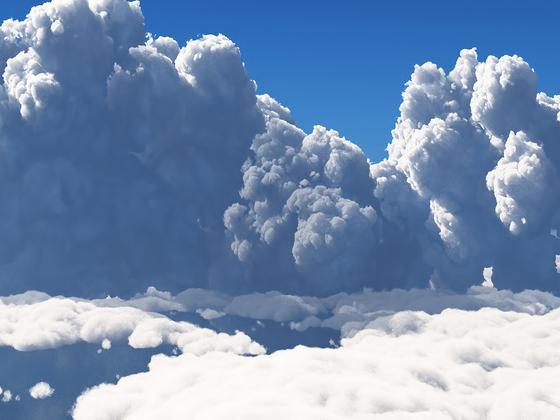 B VDB-Wolken in Vue