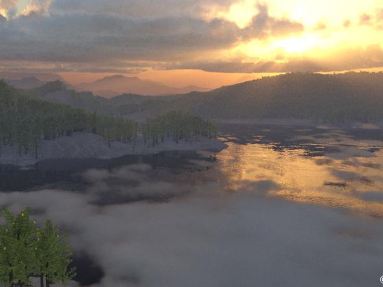 Sonnenaufgang im Karbon