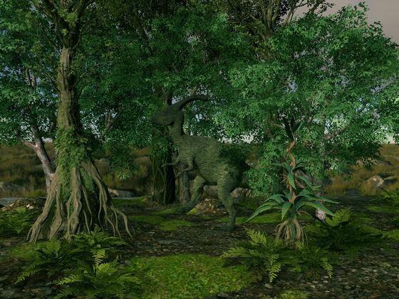 Parasaurier beim Spaziergang