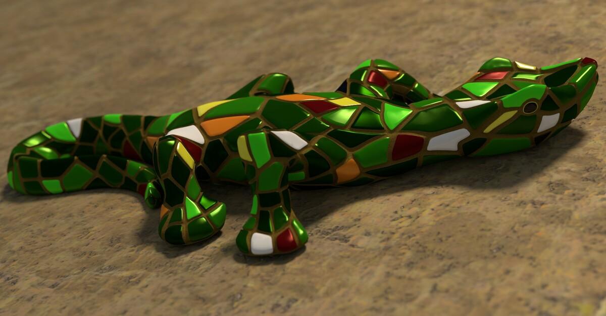 Keramik-Gecko
