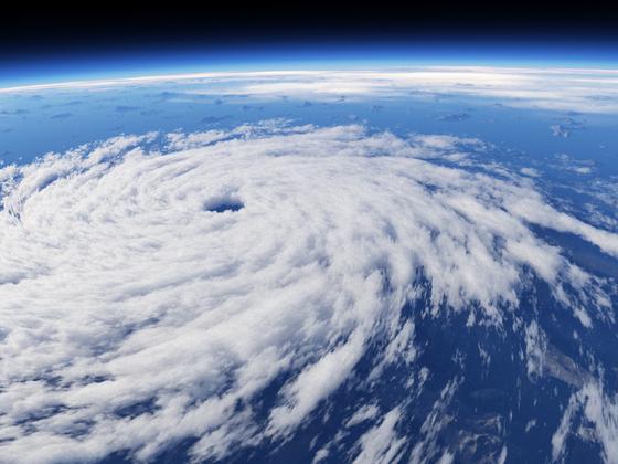 Hurrikan vom Weltraum aus gesehen