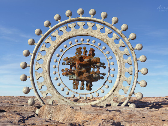 The fractal visitor