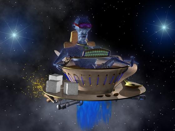 UT 03 mit blauen Alien