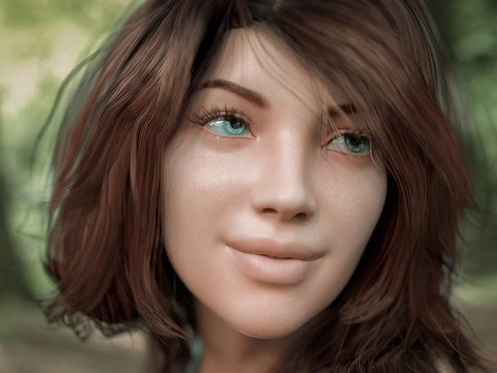 Mädchen im Wald ...