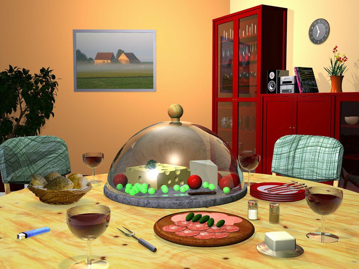 Stilleben Abendessen