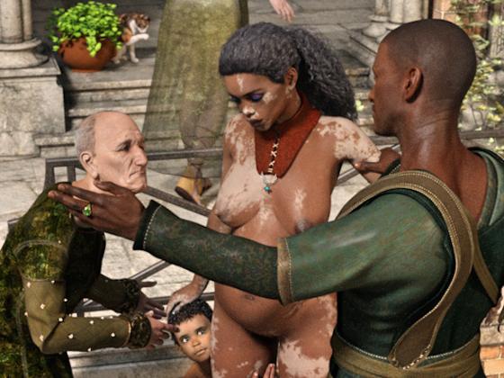 Imari auf dem Sklavenmarkt