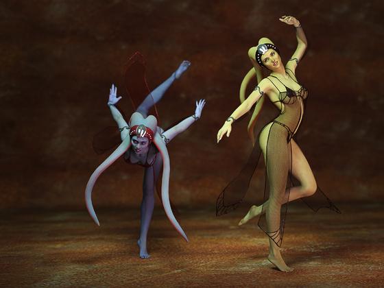 Zwei Twi'lek Tänzerinnen