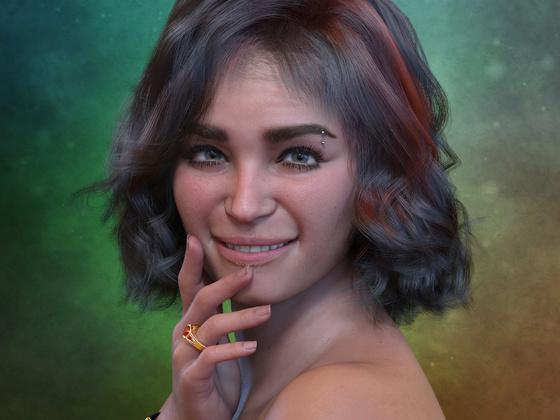 Portrait einer hübschen Lady