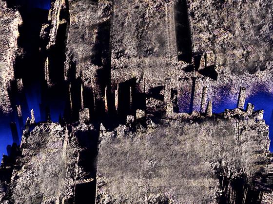 Blauer Untergrund