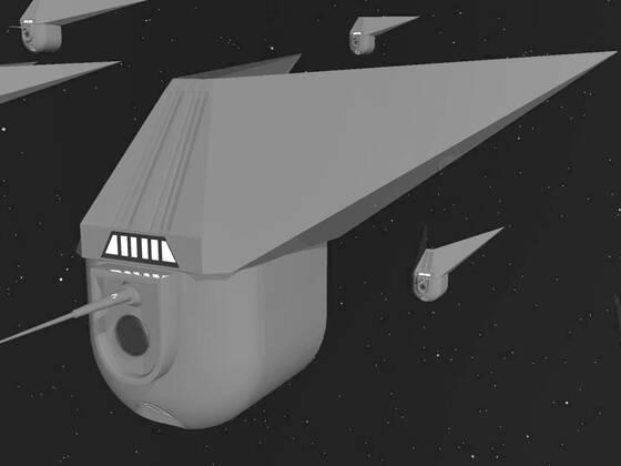 Invasionsflotte der FROGS mit Kurs auf COVID 19 letzter Aussenposten der Terraner. Bild in  TV - Look der späten 60 er!