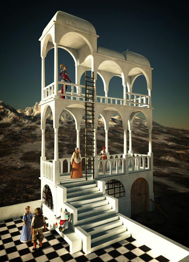Tribute to Escher: Belvedere