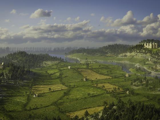 Eine kleine Landschaft