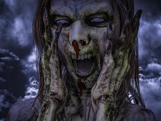 """Aktuelle Zombie-Probleme: """"Oh, Mist!    Schon wieder so'n faden Veganer erwischt."""""""