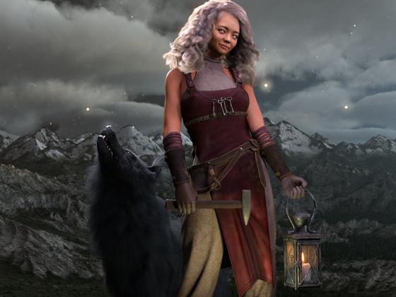Vajana mit Wolf