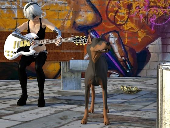 Gitarrenspielerin
