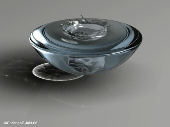 Wassertropfen in Gefäss