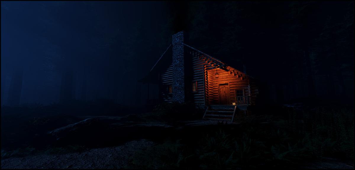 Die Waldhütte...
