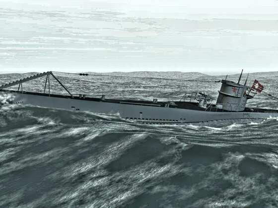 U 552 im Atlantik