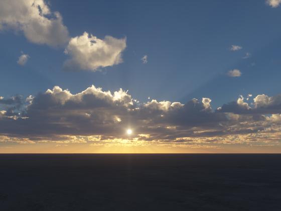 Wolken im abendlichen Gegenlicht