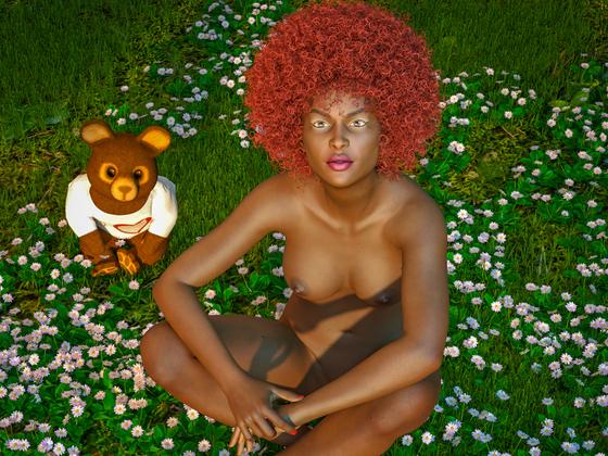 Kleiner Teddy an Gänseblümchen :-)     (nudity)