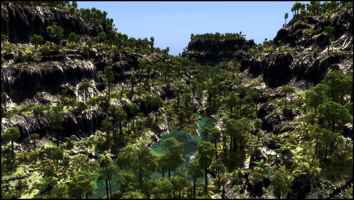 kleene Schlucht mit Wasser/ Dschungel Var.