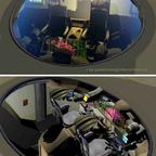 Spacejet, Detailansicht Cockpit