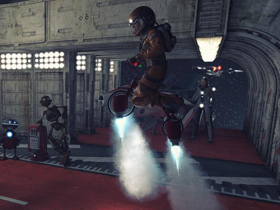 Landung des neuen Dreirad-Raumers!