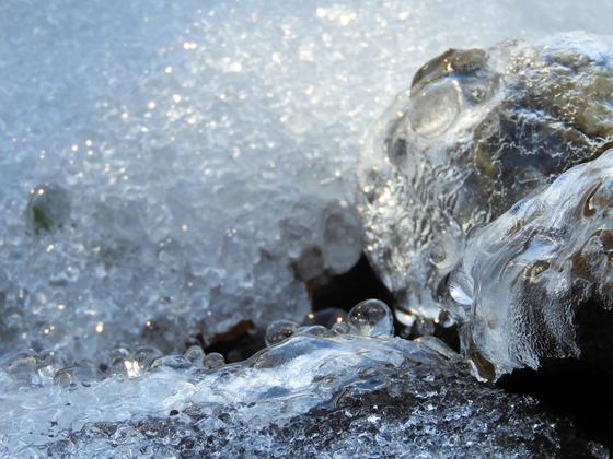 Die Schönheit von Eis