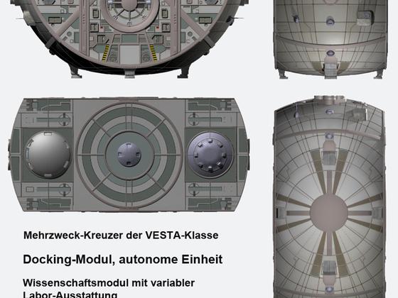 Mehrzweck-Kreuzer - Modul, Ansichten