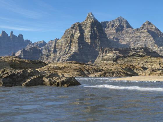 Die Insel der steilen Felswände