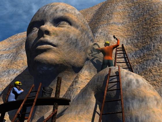 The Monument oder einer arbeitet und einer macht Pause