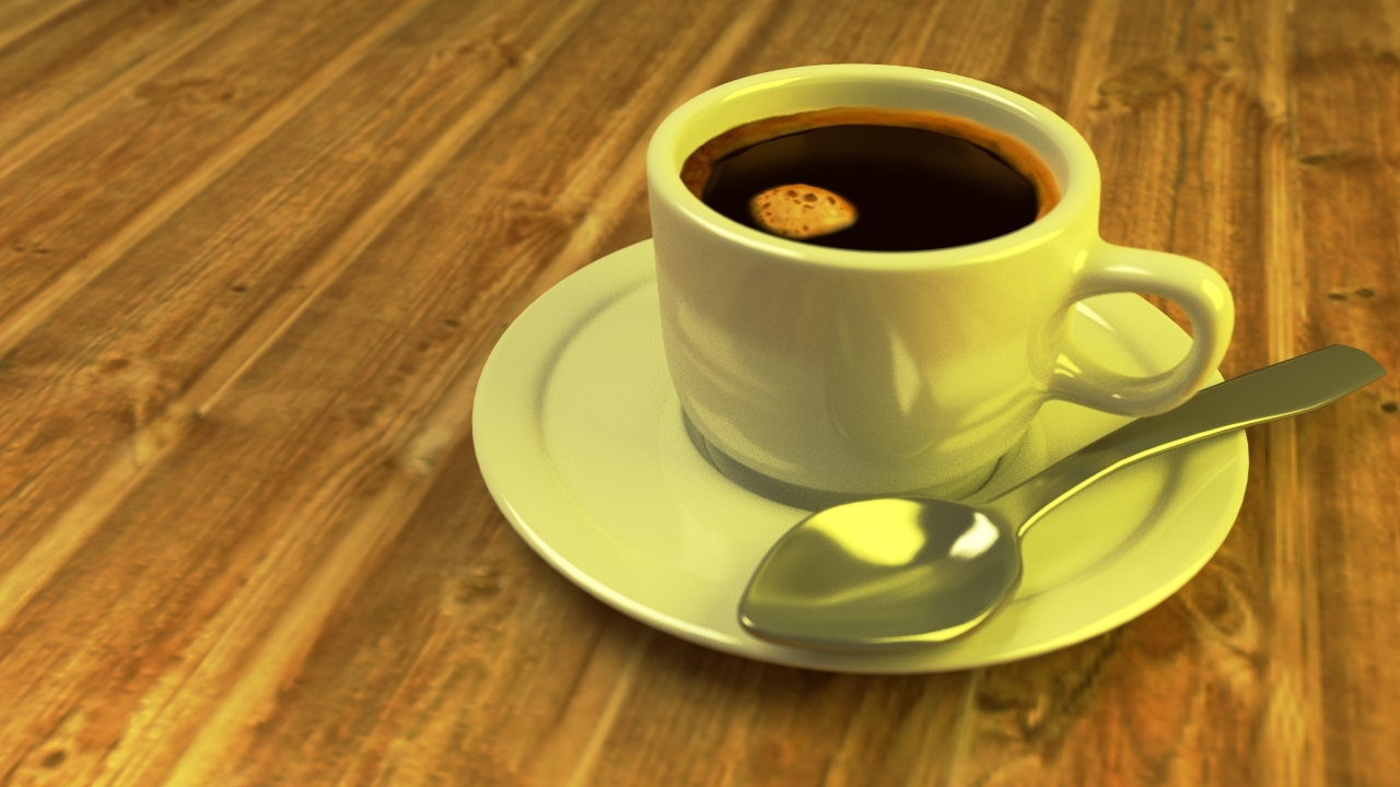 Der Kaffee ist fertig.