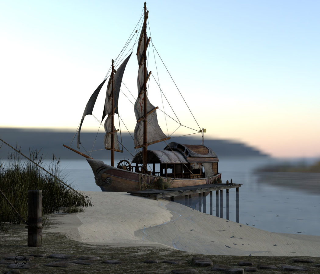 Ship in Blender ;)