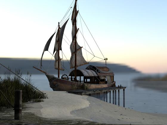 Ship in Blender ;)
