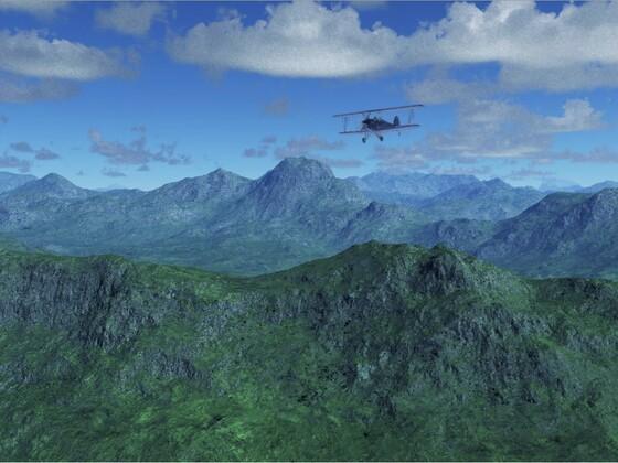 Flug über die Dolomiten