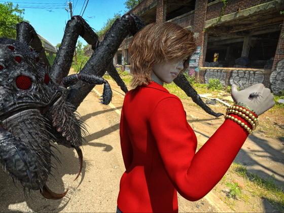 Na, Spinnchen, keine Angst so allein?