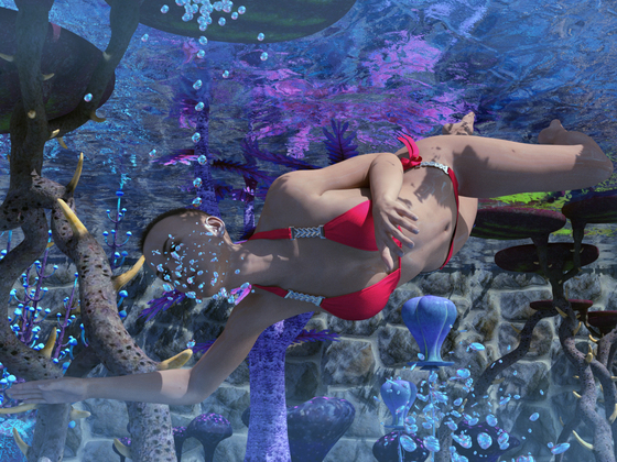 "Tauchgang im ""Mystirabischen Meer"" auf dem Planet Aquania III"