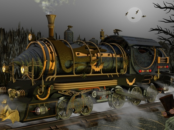 SteamPunk Maschine # 002 Dampfokomotive