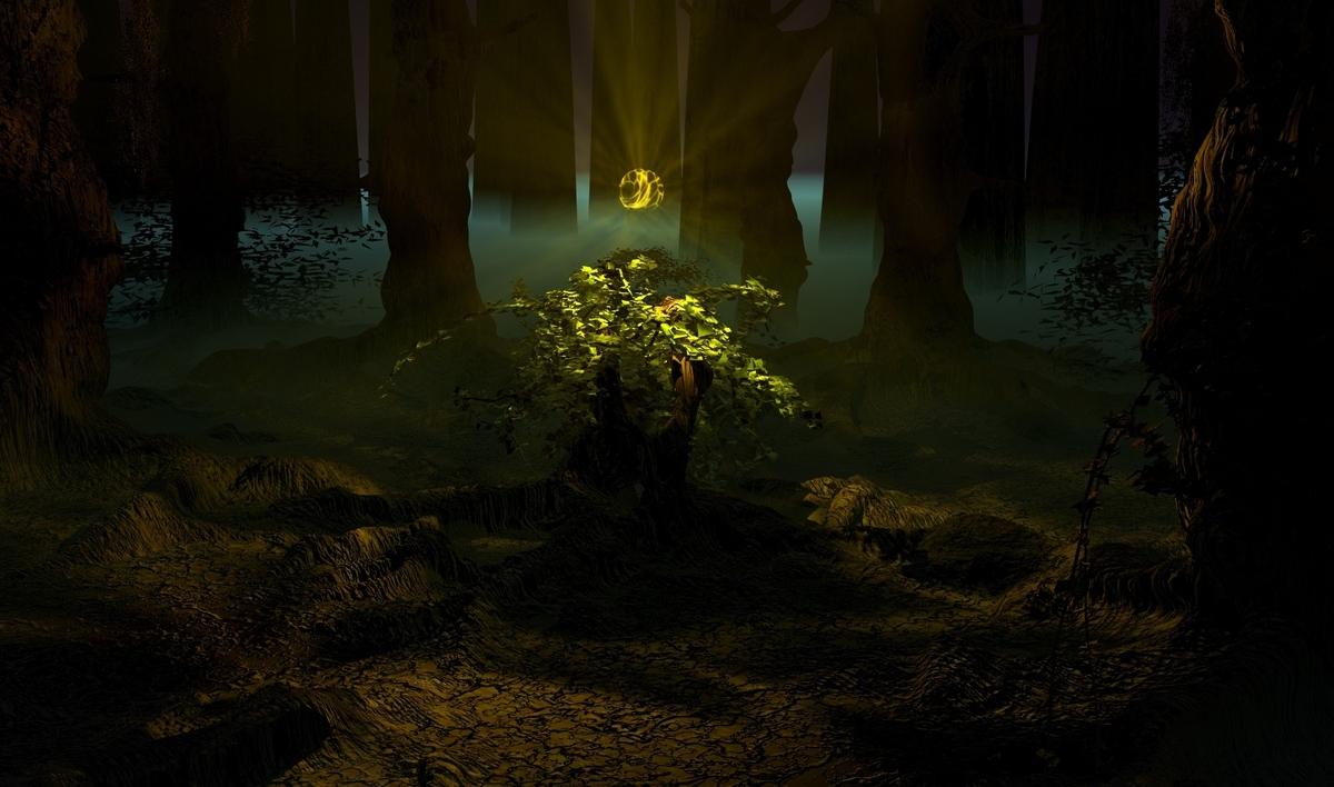 Im Wald da ist es ach so finster