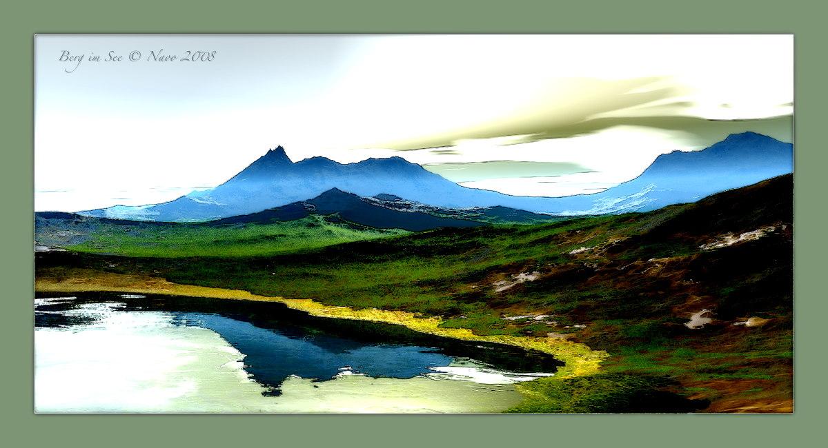 Berg im See