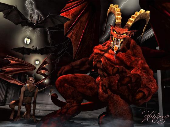 The Evil an his entourage