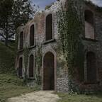Eine Ruine in den Ardennen