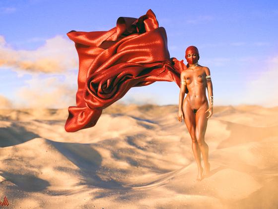 Wind in der Wüste (Vorsicht, Nacktheit!!)