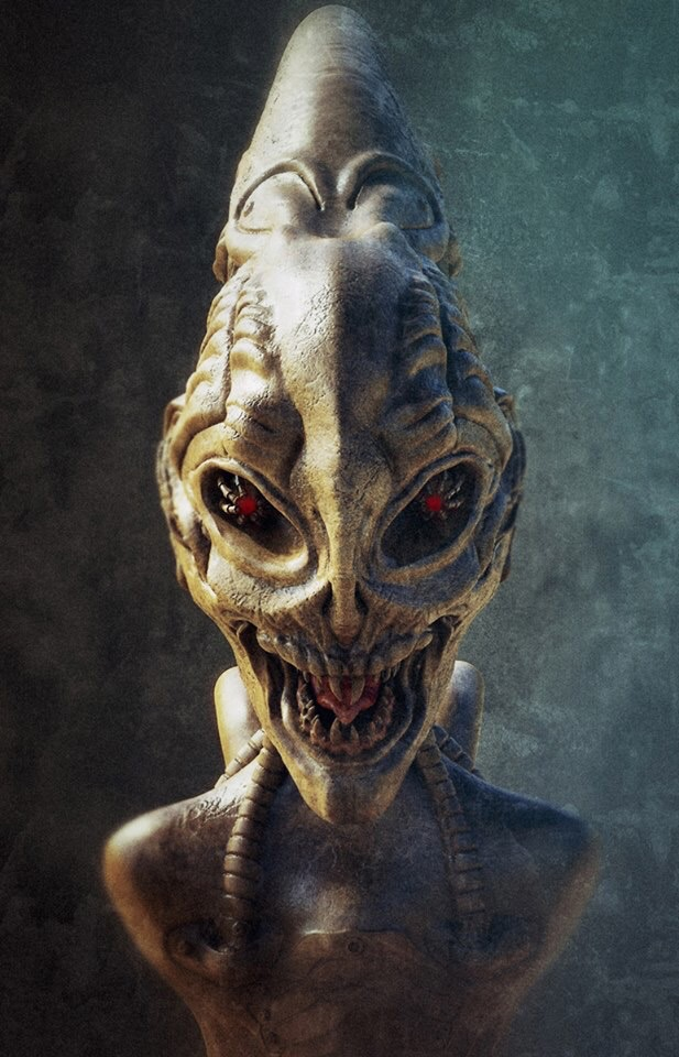 Alien Giger Style Front.