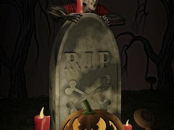 Halloween - Rendering mit Modell-Vorgabe
