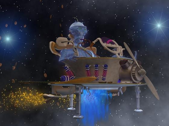 UT 07 mit blauen Alien